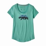 Women's Fitz Roy Bear Organic Cotton Scoop T-Shirt