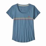 Women's Flying Fish Line Up Organic Cotton Scoop T-Shirt
