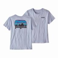 Women's Fitz Roy Far Out Organic Crew Pocket T-Shirt