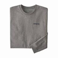 Men's Long-Sleeved Text Logo Organic Cotton/Poly Responsibili-Tee