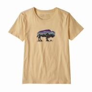 Women's Fitz Roy Bison Organic Cotton Crew T-Shirt