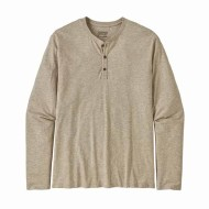 Men's Long-Sleeved Organic Cotton Lightweight Henley Pullover