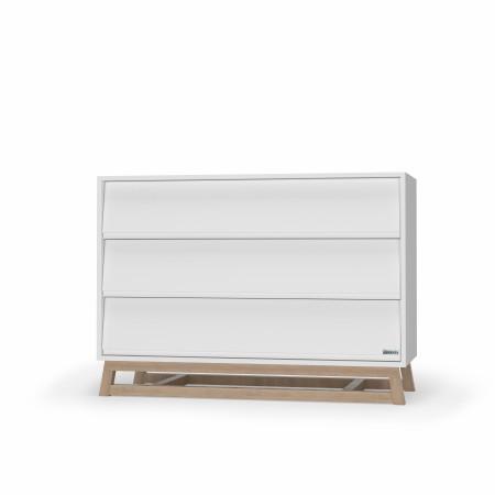 Domino Dresser - White/Natural