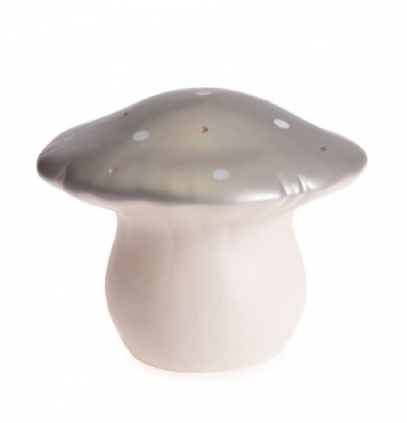 Lamp Mushroom Silver- M