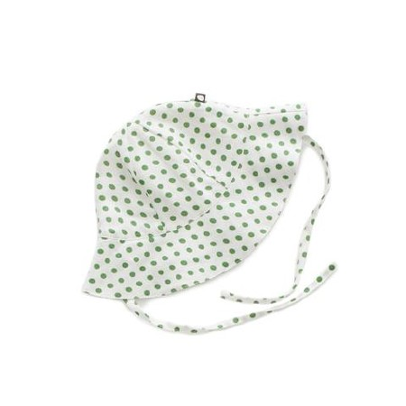 Baby Hat Green Dots 0-12m