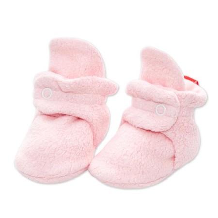 Booties Fleece Baby Pink 0-3m