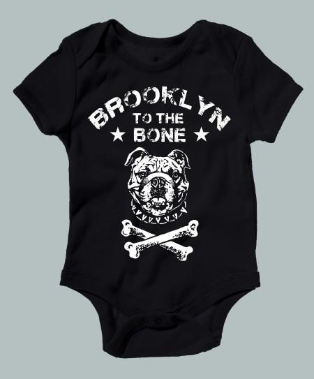 Brooklyn Bone Onesie 3-6m