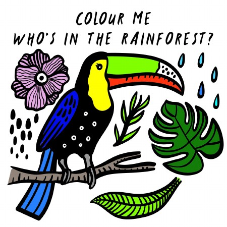 Color Me Rainforest (Bird) NS