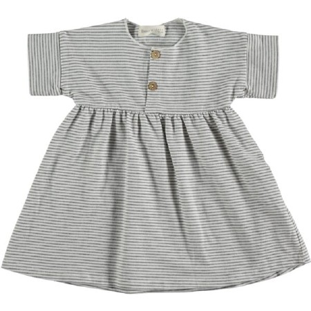 Dress White Stripe 9-12m