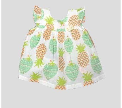 Eve Dress Pine Mint 3-6m
