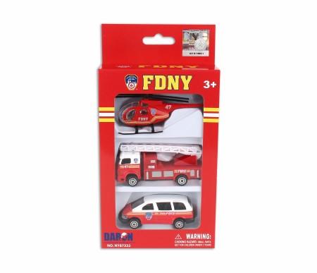 FDNY 3pc Vehicle Set