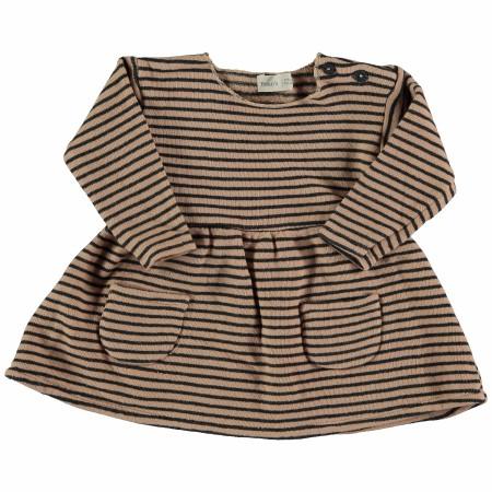 Fleece Dress Nude 3-6m