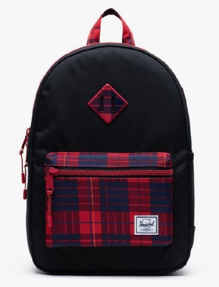Heritage Youth Backpack Black/Winter Plaid