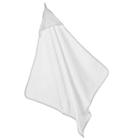 Hooded Towel Grey Stripe