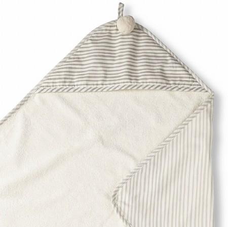 Hooded Towel Stripe Away Pebbl
