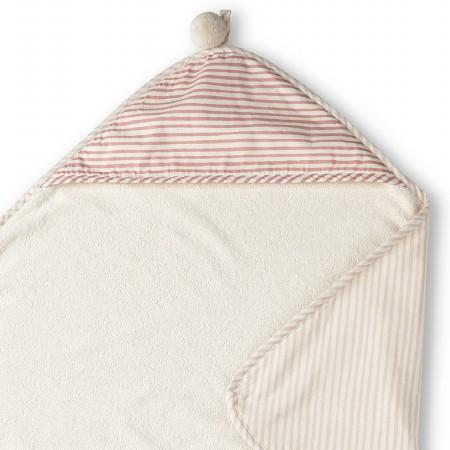 Hooded Towel Stripe Away Petal