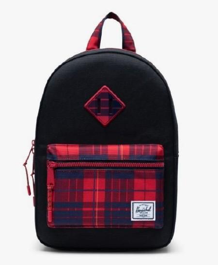 Heritage Kid Backpack Black/Winter Plaid