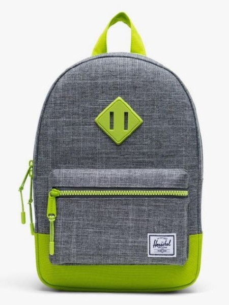 Heritage Kid Backpack Raven/Lime Green