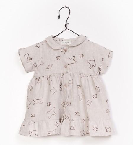 Linen Dress Natural 0-3m