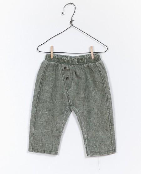 Linen Pant Green 0-3m