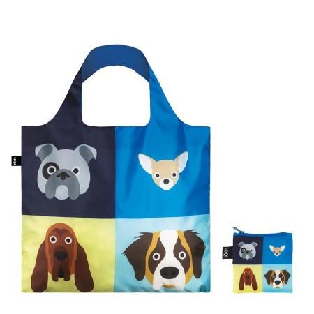 LOQI Tote Bag Cheetham Dogs