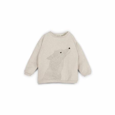 Loup Sweatshirt Beige 3-6m