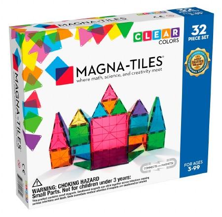Magna-Tiles Clear Colors 32pc