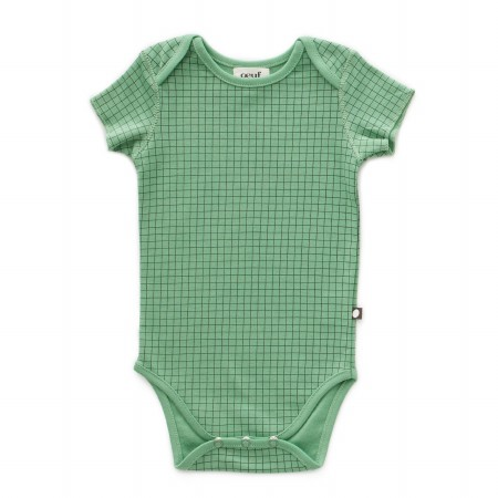 Onesie Green Check 3-6m