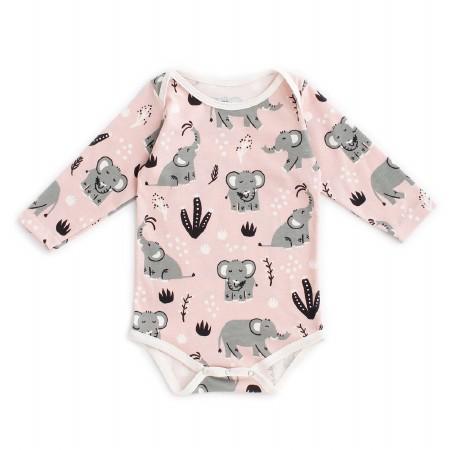 Onesie Pink Elephant 6-12m