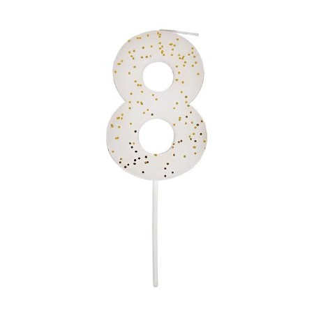 Party Candle Numeric Eight
