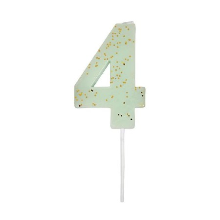 Party Candle Numeric Four