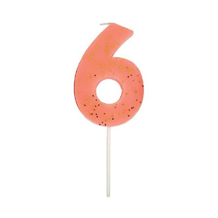 Party Candle Numeric Six