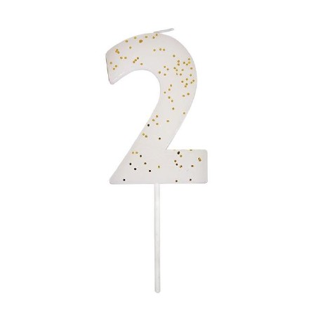 Party Candle Numeric Two