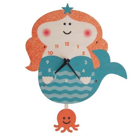 Mermaid Pendulum Clock