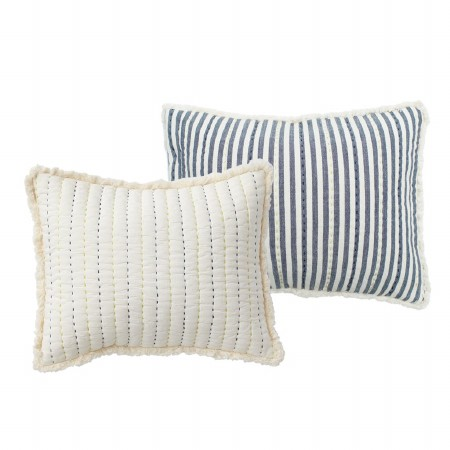 Quilted Nursery Pillow Blue