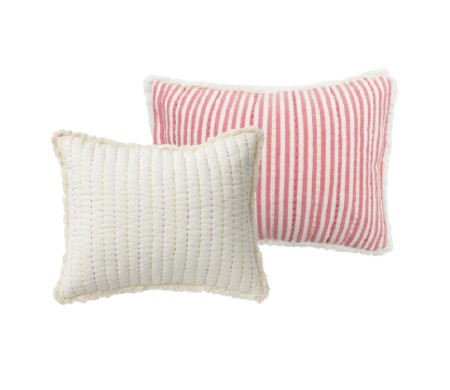 Quilted Nursery Pillow Pink