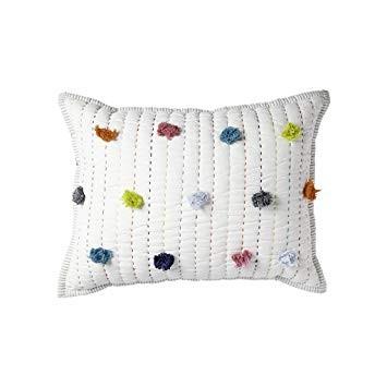 Quilted Nursery Pillow Pom Pom