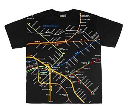 SST Brooklyn Map Black 2T
