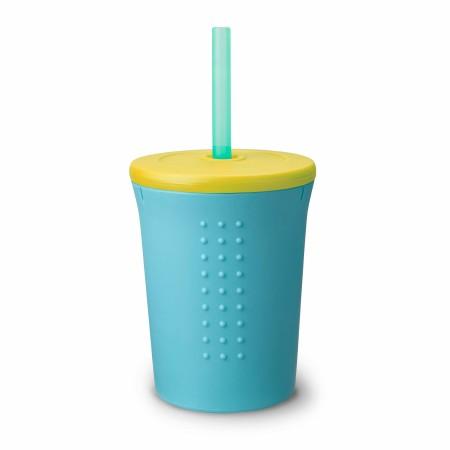 Straw Cup 12oz. Sky/Banana