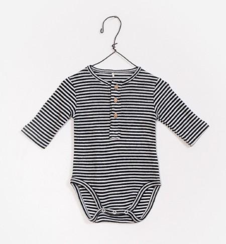 Striped Onesie Black 6-9m
