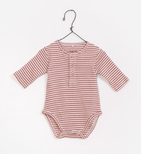 Striped Onesie Pink 6-9m