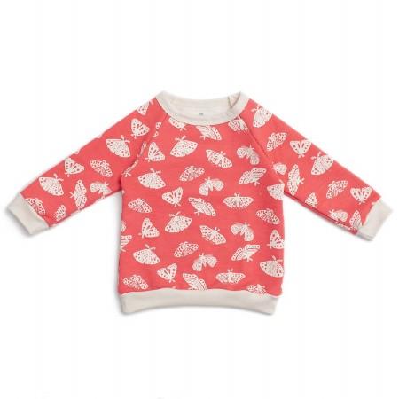 Sweatshirt Coral Moths 12-18m