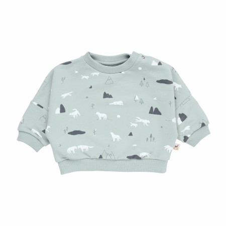 Sweatshirt Wolves Mist 6-9m