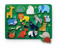 16pc Wood Puzzle- Zoo