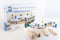 20pc Wooden Subway Set