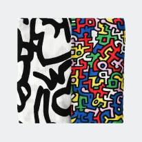 2pk Keith Haring Muslin Square