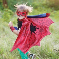 Spider Cape w/Wristbands 3-4Y