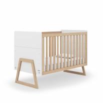 Domino Crib - White/Natural