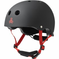 Triple Eight Helmet Lil 8 Black Rubber