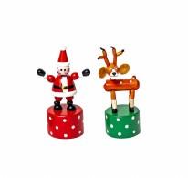 Push Puppet Santa Reindeer